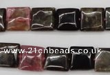CTO388 15.5 inches 12*12mm square natural tourmaline beads wholesale