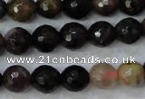 CTO462 15.5 inches 7mm faceted round natural tourmaline gemstone beads