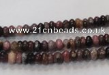 CTO51 15.5 inches 3*5mm rondelle natural tourmaline beads wholesale