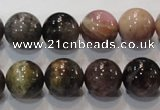 CTO53 15.5 inches 12mm round natural tourmaline beads wholesale