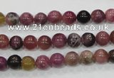 CTO63 15.5 inches 7mm round natural tourmaline gemstone beads