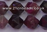 CTO652 15.5 inches 10mm faceted nuggets tourmaline gemstone beads