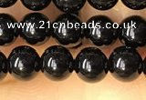 CTO700 15.5 inches 4mm round black tourmaline beads wholesale