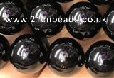CTO702 15.5 inches 8mm round black tourmaline beads wholesale