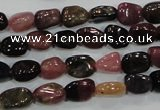 CTO71 15.5 inches 6*8mm nuggets natural tourmaline gemstone beads