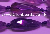 CTR204 14*34mm - 17*40mm faceted teardrop ametrine gemstone beads