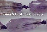 CTR210 15.5 inches 15*25mm - 16*40mm faceted teardrop ametrine beads