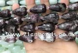 CTR360 15.5 inches 15*25mm faceted teardrop tourmaline beads