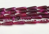 CTR420 15.5 inches 10*30mm teardrop agate beads wholesale