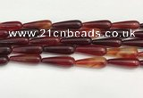 CTR421 15.5 inches 10*30mm teardrop agate beads wholesale
