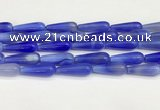 CTR426 15.5 inches 10*30mm teardrop agate beads wholesale