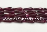 CTR453 15.5 inches 10*30mm faceted teardrop agate beads wholesale