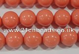 CTU1315 15.5 inches 12mm round synthetic turquoise beads