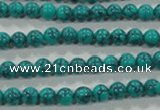 CTU1672 15.5 inches 6mm round synthetic turquoise beads