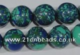 CTU1819 15.5 inches 20mm round synthetic turquoise beads