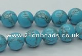CTU200 16 inches 10mm round imitation turquoise beads wholesale