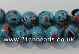 CTU2003 15.5 inches 10mm round synthetic turquoise beads