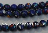 CTU2072 15.5 inches 8mm round synthetic turquoise beads