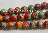 CTU2342 15.5 inches 8mm round synthetic turquoise beads