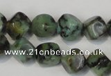 CTU2461 15.5 inches 6*6mm cube African turquoise beads wholesale
