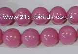 CTU2553 15.5 inches 16mm round synthetic turquoise beads