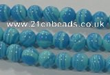 CTU2581 15.5 inches 6mm round synthetic turquoise beads