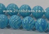 CTU2584 15.5 inches 12mm round synthetic turquoise beads