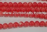 CTU2731 15.5 inches 6mm round synthetic turquoise beads