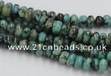 CTU405 15.5 inches 3*6mm rondelle African turquoise beads wholesale