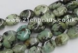 CTU412 15.5 inches 8*12mm oval African turquoise beads wholesale
