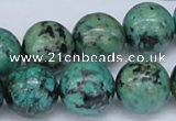 CTU431 15.5 inches 16mm round African turquoise beads wholesale