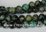 CTU482 15.5 inches 8mm round African turquoise beads wholesale