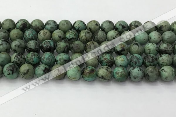CTU577 15.5 inches 8mm round african turquoise beads wholesale