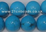 CTU827 15.5 inches 18mm round dyed turquoise beads wholesale