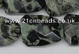 CTW419 15.5 inches 22*30mm faceted & twisted kambaba jasper beads