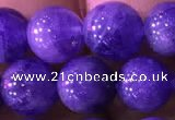CTZ515 15.5 inches 8mm round natural tanzanite gemstone beads