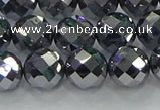 CTZ614 15.5 inches 12mm faceted round terahertz beads wholesale