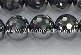 CTZ623 15.5 inches 10mm faceted round terahertz beads wholesale