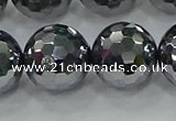 CTZ625 15.5 inches 14mm faceted round terahertz beads wholesale