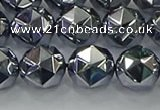 CTZ633 15.5 inches 10mm faceted nuggets terahertz beads wholesale