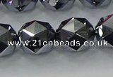 CTZ634 15.5 inches 12mm faceted nuggets terahertz beads wholesale