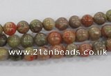 CUG101 15.5 inches 6mm round Chinese unakite beads wholesale