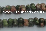 CUG65 16 inches 8*12mm bone natural unakite gemstone beads wholesale