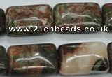 CUJ06 15.5 inches 18*25mm rectangle autumn jasper gemstone beads
