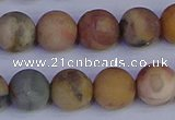 CVJ15 15.5 inches 12mm round matte venus jasper beads wholesale