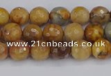 CVJ22 15.5 inches 6mm faceted round venus jasper beads wholesale