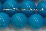 CWB860 15.5 inches 10mm round howlite turquoise beads wholesale