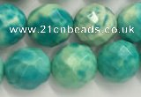 CWB881 15.5 inches 6mm faceted round howlite turquoise beads