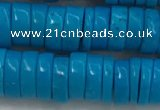 CWB907 15.5 inches 3*8mm tyre howlite turquoise beads wholesale