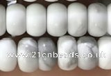 CWB918 15.5 inches 5*8mm rondelle white howlite turquoise beads